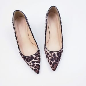 J. Crew Collection Avery Calf Hair Leopard Pumps